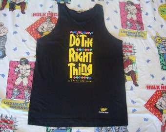 Vintage Do The Right Thing Spike Lee 1989 Movie Promo 80's rap hip hop Miller High Life Beer public enemy T shirt Tank Top M