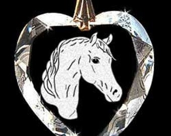 Arabian Horse Head Custom Made Crystal Necklace Pendant Jewelry with any Animal or Name YOU Want, Great gift 4H, FFA, Horse Lover, Rodeo