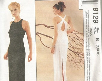 McCall's 9129  Laundry by Shelli Segal Evenig Dress Pattern SZ 8-12