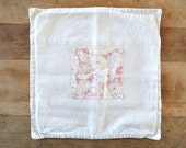Reserved for Teri - FRENCH White Linen Pillow Cover Cushion made with Vintage English Eiderdown Fabric