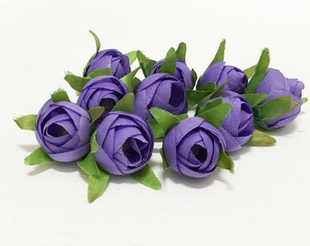10  LAVENDER PURPLE Ranunculus Buds - Artificial Flowers, Wedding Flowers, Flower Crowns