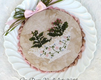 Shabby Chic Flower China Plate Decoration