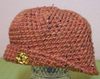 Crocheted wool beanie