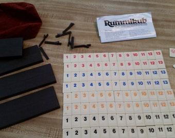 Vintage Rummikub Tile Rummy Game Complete 1980s