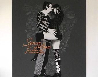 Screenprint Serge & Jane - Gainsbourg tribute - 25 years
