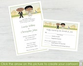 Fall Wedding Invitations and RSVP Cards – Set of 10 - Create a Cartoon You!