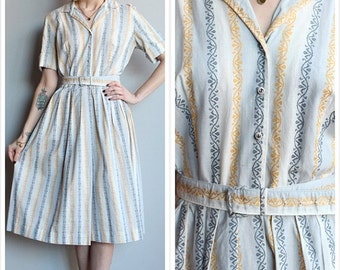 20% Sale 1950s Dress // Betty Barclay Cotton Dress // vintage 50s dress