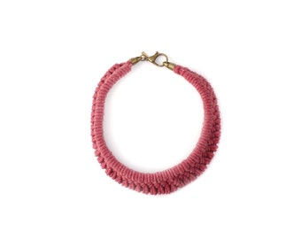 Tomales Necklace in Hand Dyed Desert Rose