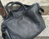 Grace Tote / Black Leather Tote Bag / Custom Handcrafted Leather Bags / Oversized Leather Tote / Zippered Leather Bag /  Soft Shoulder Bag