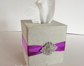 Tissue Box, Wedding Box, Amenties Box, Tissues Cover  - Custom Made