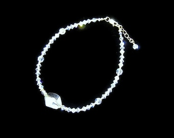 Crystal and Gold Anklet
