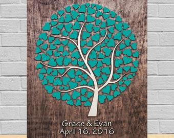 3d Wedding Guest Book, 3d Guest book, 3d Guest Book Alternative,Wedding Guest Book Alternative, Water-fall Cirlce Heart wedding Guest Book