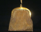 Whiting And Davis Purse Vintage Purse Gold Mesh Purse Wedding Purse Vintage Handbag Formal Purse