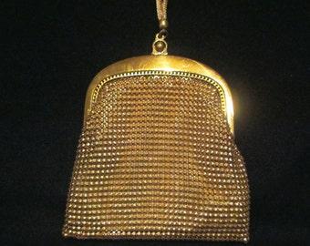 Whiting And Davis Purse Vintage Purse Gold Mesh Purse Wedding Purse Vintage Handbag Formal Purse