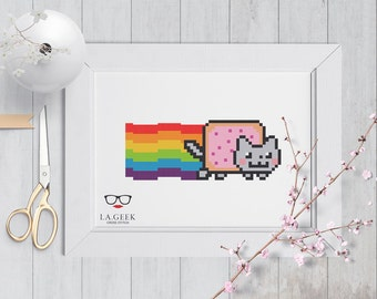 Nyan Cat - Geeky Cross Stitch Pattern