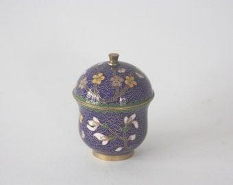 Small Vintage Cloisonne Jar