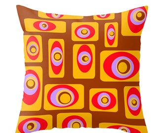 Modern  Pillow, Mod Pillow, Modern Throw Pillow, Brown Pillow, Mid Century Modern  Pillow, Modern Cushion, Decorative Pillow