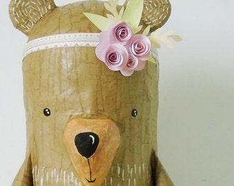 Flower Boho Bear Pinata