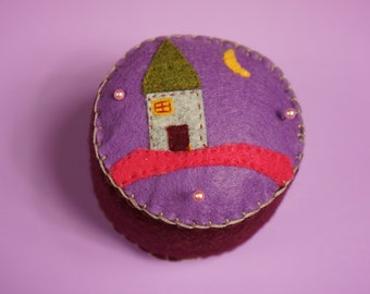 Sleepy Dream House Pincushion