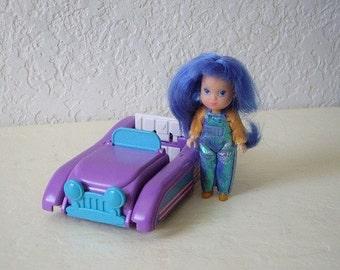 Wish World Kids, Read n Speed Chair 1987 Playset  with Jessie doll,  Kenner
