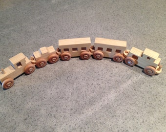 SALE - 15 Inch Pull Train with Natural Finish