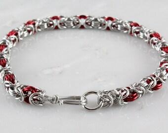 Petite Byzantine Chain Maille  Bracelet