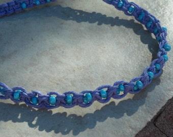 hemp necklace/hippie necklace/choker/hemp choker