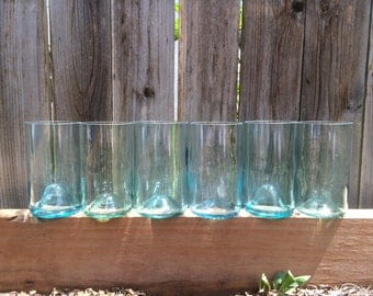 Blue Repurposed Pint Glass (1)