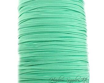 Mint Skinny Elastic 1/8 inch - Thin Elastic, Skinny Elastic, Elastic Trim, Thin Headband, Skinny Headband