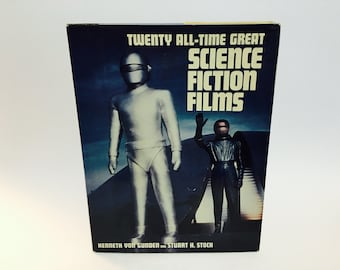 Vintage Guide Book Twenty All-Time Great Science Fiction Films by Von Gunden & Stock 1982 Hardcover
