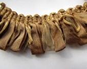 Amazing ribbon Fringe trim in bronge gold