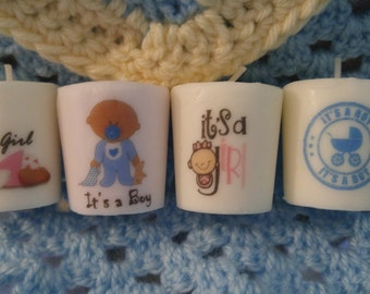 Baby Shower Favors  - Mini Scented Candles