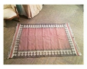 woven aztec 6x4 southwest area rug - red, brown, gray