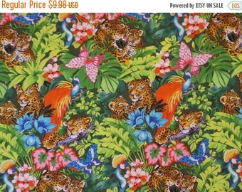 ON SALE Jungle Leopard Print Pure Cotton Fabric--One Yard
