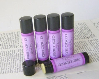 Chokecherry Lip Balm, Natural Beeswax Balm with Cocoa and Shea Butter