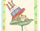 Frog Party invitation