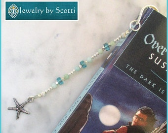 Unique Beaded Starfish Bookmark, Book Lovers Gift, For Readers, For Booknerds, Unique Bookmarks, For Librarian, For Student, For Teacher