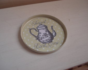 Miniature tea round tray