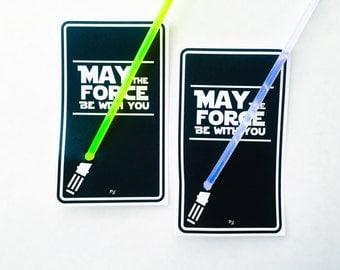 Star Battles. Light Saber Cards. DIGITAL DOWNLOAD. DiY Printable Design. Pinkadot Shop