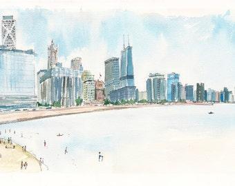 Chicago Beach in the Summer