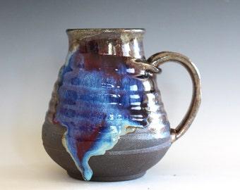 EXTRA LARGE 27 oz Coffee Mug, handthrown ceramic mug, stoneware pottery mug, unique coffee mug