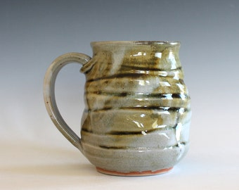 Stoneware Mug, 18 oz, handmade ceramic cup, ceramic stoneware mug, coffee cup