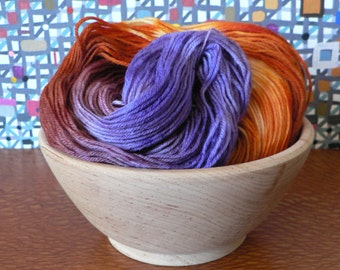 Hand Dyed Fingering Weight Superwash Merino Nylon Sock Yarn- Crocus 462 yards