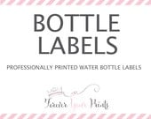 Professionally Printed Water Bottle Labels - PRINTING SERVICE