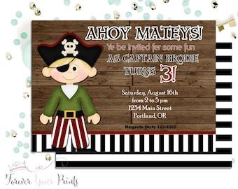 pirate invitations  etsy, Birthday invitations