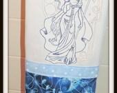 Cat lady towel, Cat witch Towel, cat Goddess Towel, Mystical kitchen, Moon kitchen, Cat Lady Kitchen, Luna towel, Cat and Luna Towel