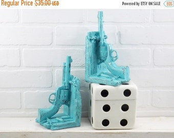 Gun Book Ends / Modern Decor / Office / Library / Book Ends / For The Home
