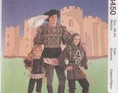 Mens Medieval Costume Renaissance Tunick Doublet Tights Size 38 - 40 McCalls 8450 Uncut