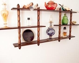 Vintage Wooden Nicknack Wall Shelf