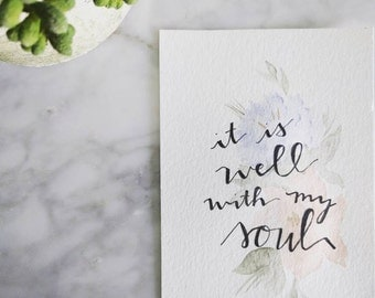 4x6 Original Watercolor -Custom Design and Phrase